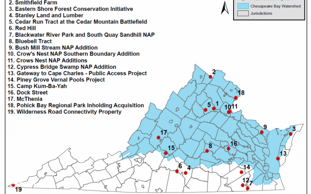 New Virginia Investments in Land Protection