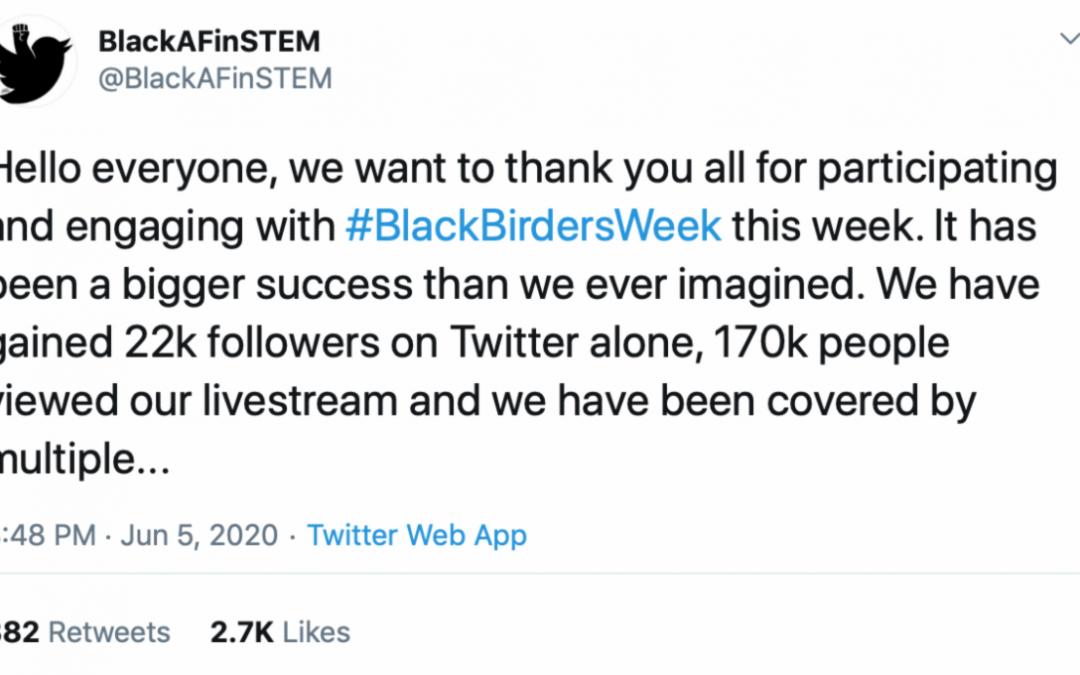 #BlackBirdersWeek